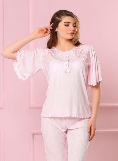 Obje Pijama Takım Pudra